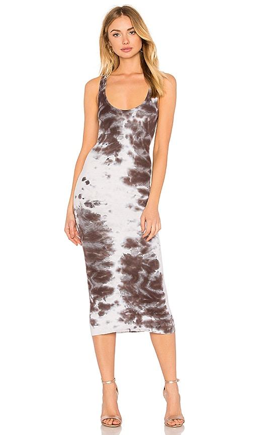 Enza Costa Rib Tank Dress in Gray