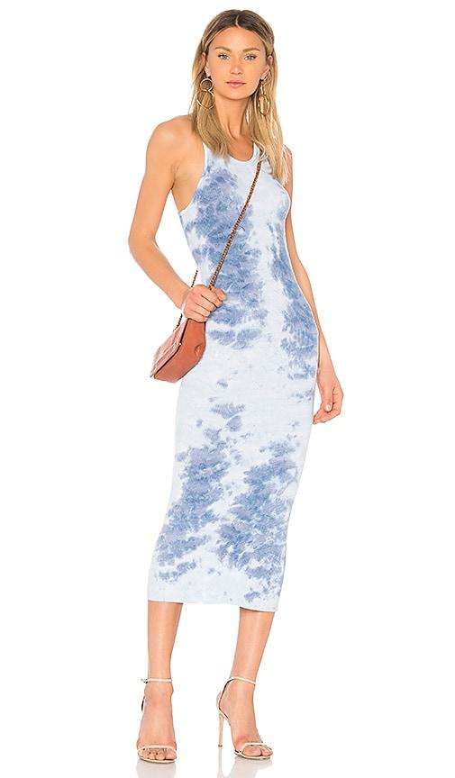 Enza Costa Rib Sheath Tank Dress in Blue