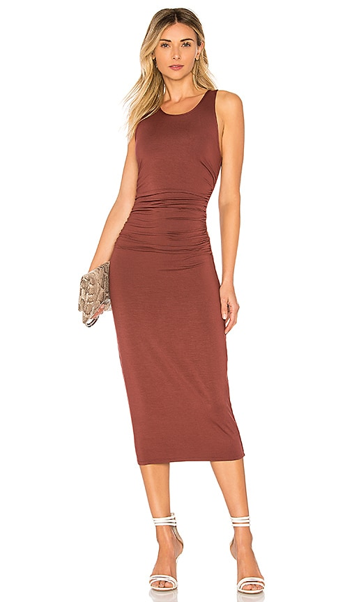 Matte Jersey Tank Midi Dress in Burgundy. - size L (also in S,XS) Enza Costa