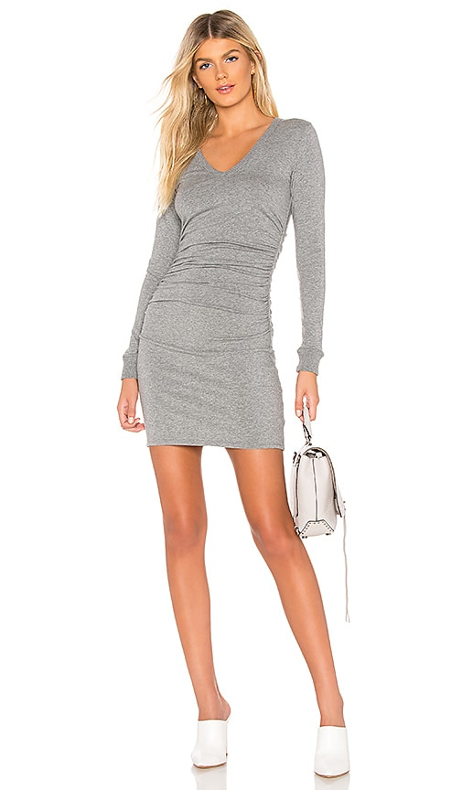 6158fbb7a471 Cashmere V Neck Ruched Dress. Cashmere V Neck Ruched Dress. Enza Costa