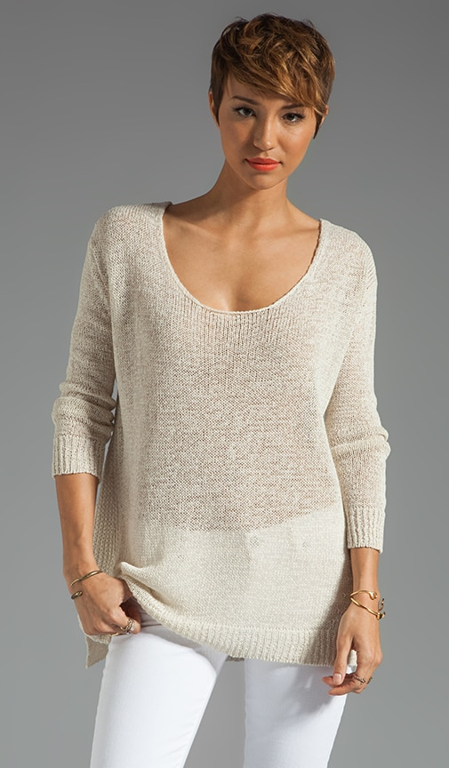 Linen Knit Tape Sweater