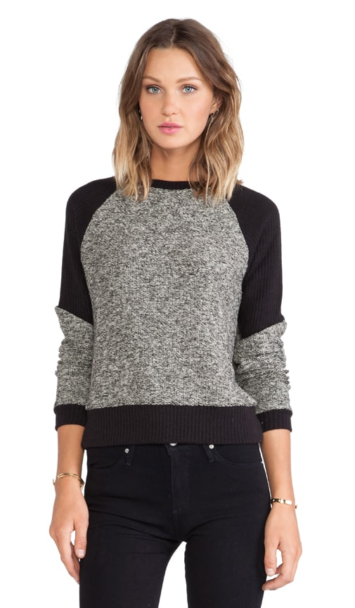 Tweed Panel Sweatshirt