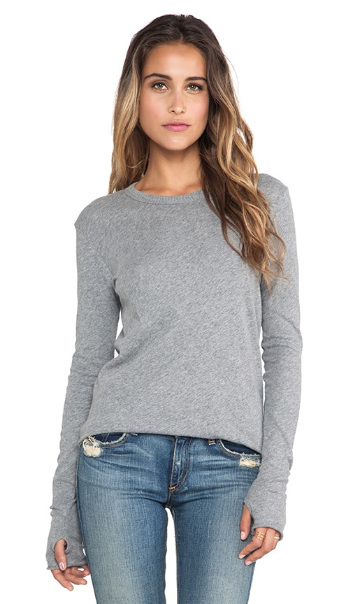 Cashmere Jersey Loose Crew