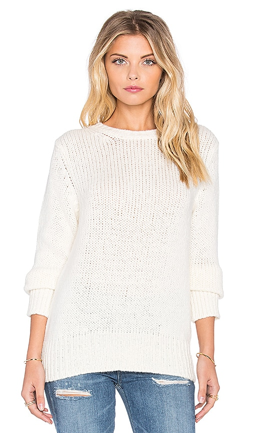 Enza Costa Loose Sweater in Winter White