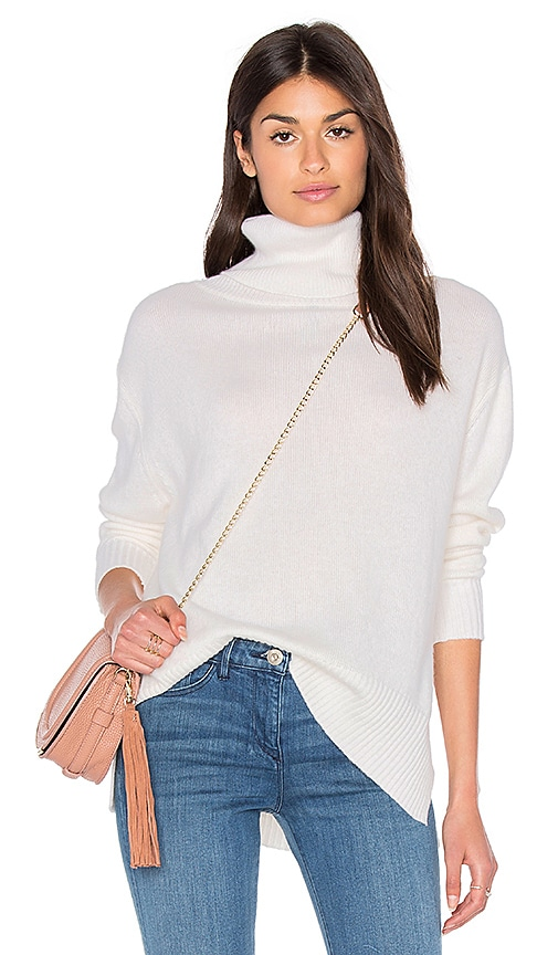 Enza Costa Loose Turtleneck Sweater in Ivory