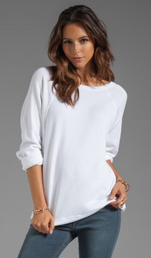 Cashmere French Terry Long Sleeve Raglan Sweatshirt