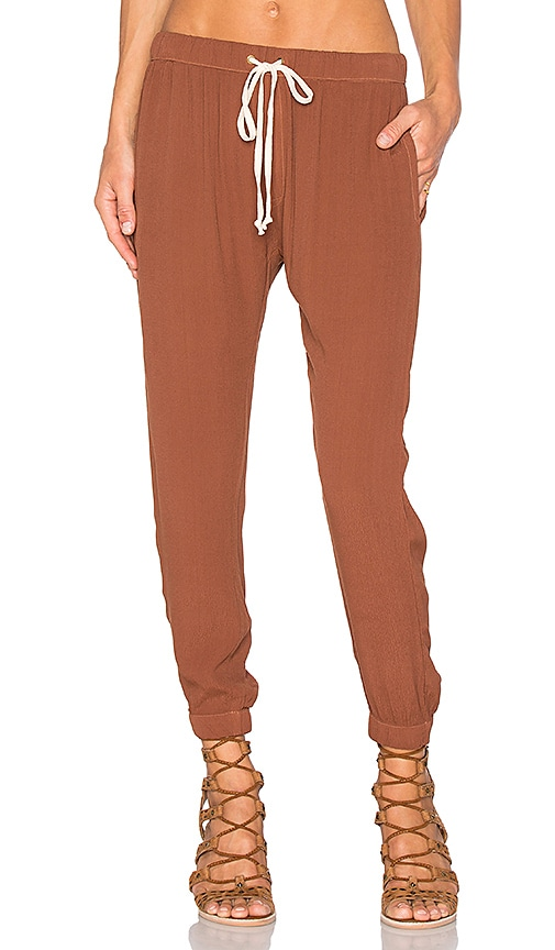 Enza Costa Lounge Pant in Cognac