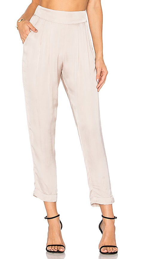 Enza Costa Pleated Easy Pant in Blush