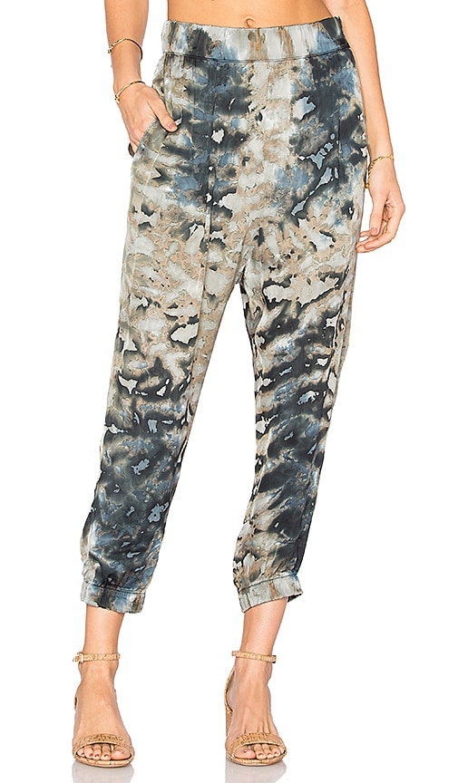 Enza Costa Jogger Pant in Gray