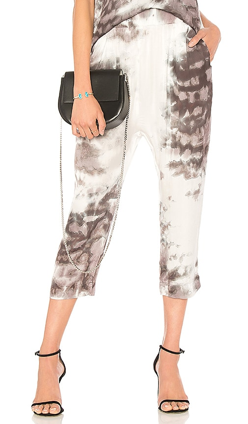 Enza Costa Drop Rise Pant in Gray