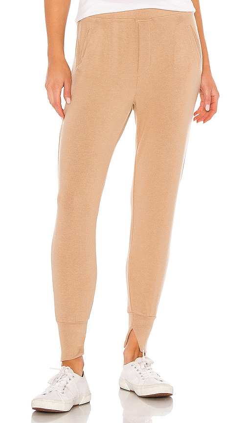 Peached Jersey Split Cuff Jogger by Enza Costa