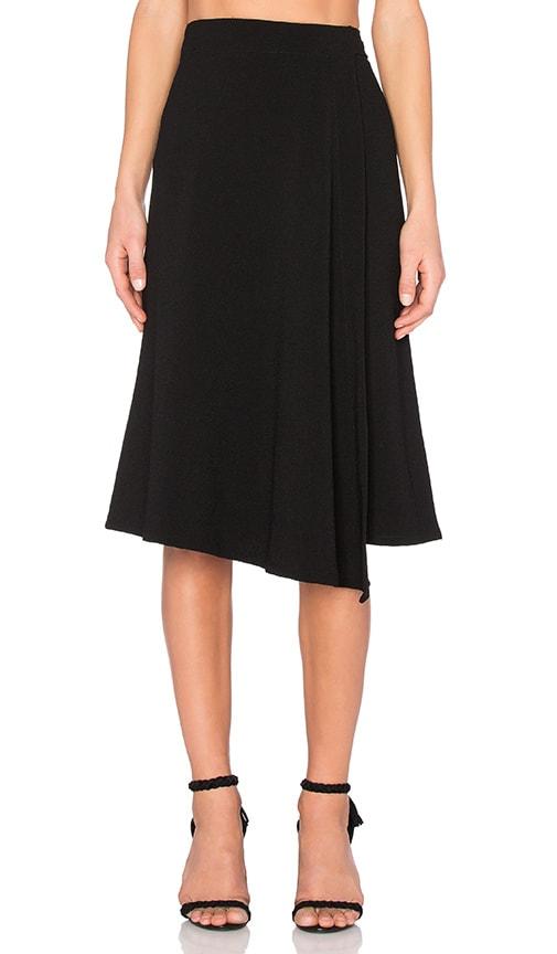 Enza Costa Wrap Skirt in Black
