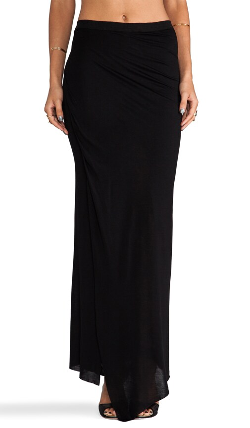 Rayon Jersey Wrap Column Skirt