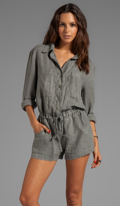 Long Sleeve Linen Romper