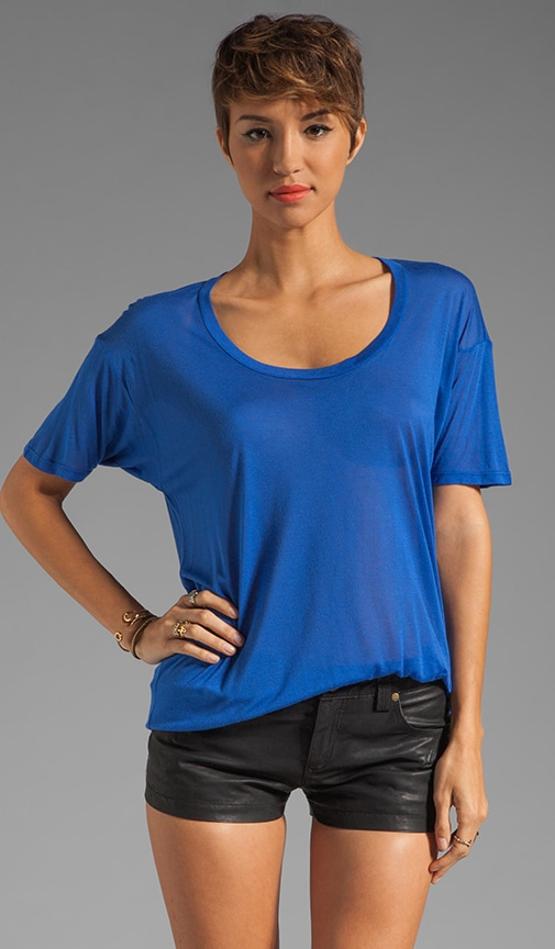 Viscose Blend Loose Scoop Tee
