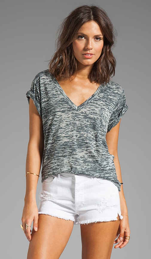 Loose Short Sleeve V-Neck