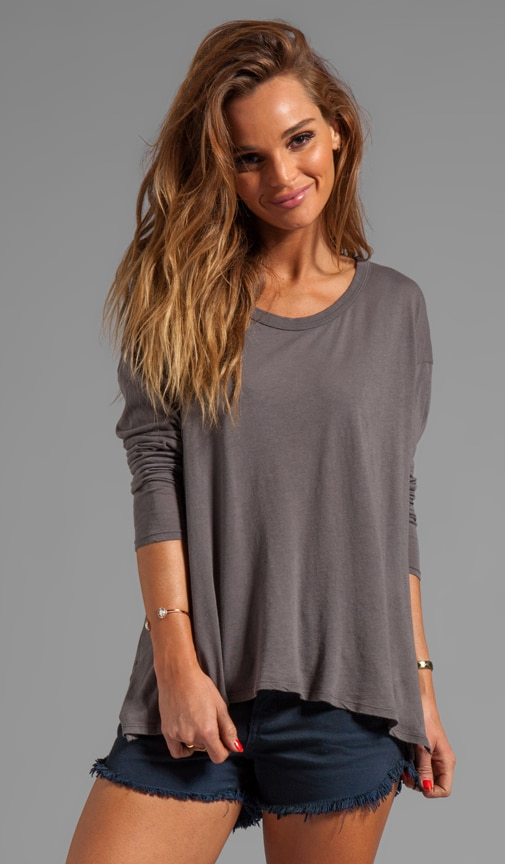 Tissue Jersey Drop Shoulder Long Sleeve