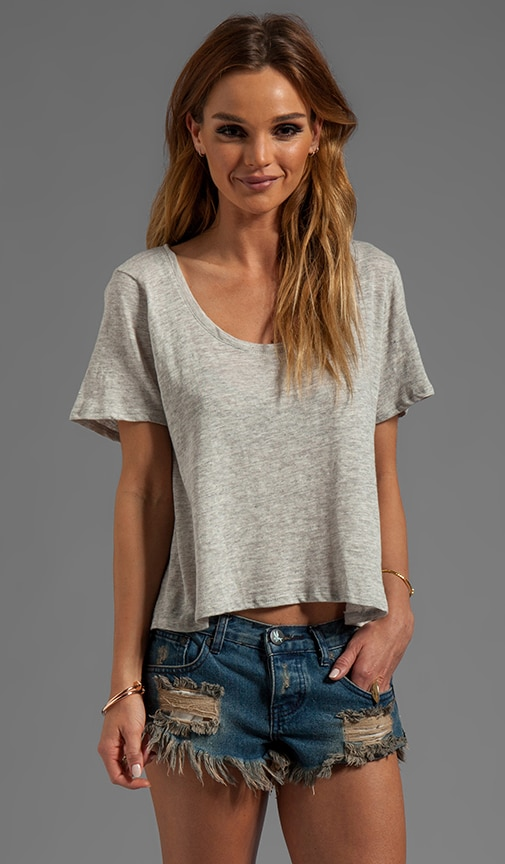 Slub Cropped Scoop Tee