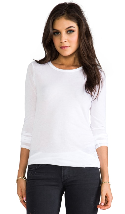 Tissue Jersey Front Drape Long Sleeve
