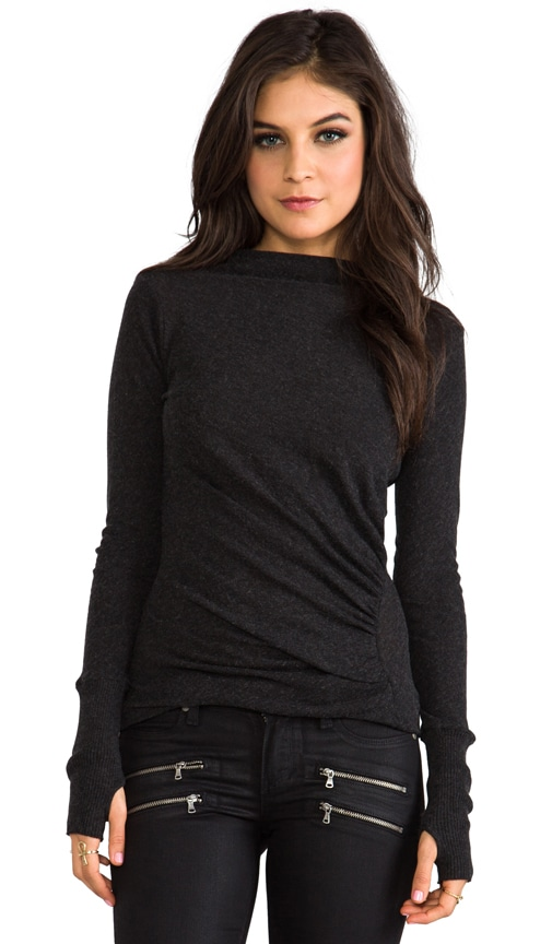 Cashmere Ruched Pullover Sweater