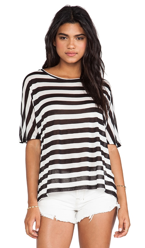 Stripe Dolman Top