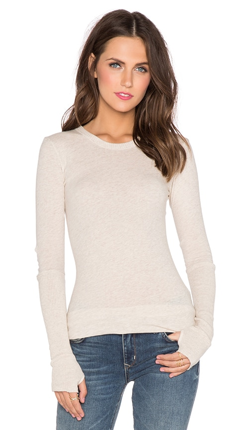 563c83ea9a07 Cashmere Cuffed Long Sleeve Tee. Cashmere Cuffed Long Sleeve Tee. Enza Costa