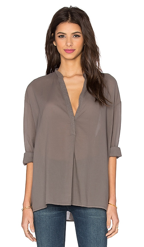 Long Sleeve Oversize Henley Top