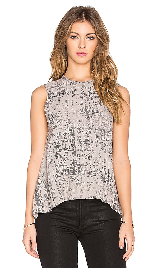 Enza Costa Sleeveless Trapeze Top in Gray