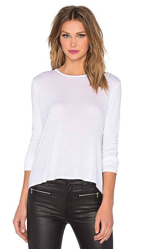 Long Sleeve Back Pleat Top