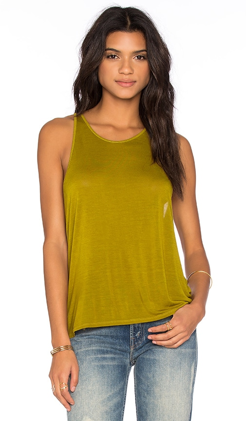 Enza Costa Cropped Sheath Tank in Green