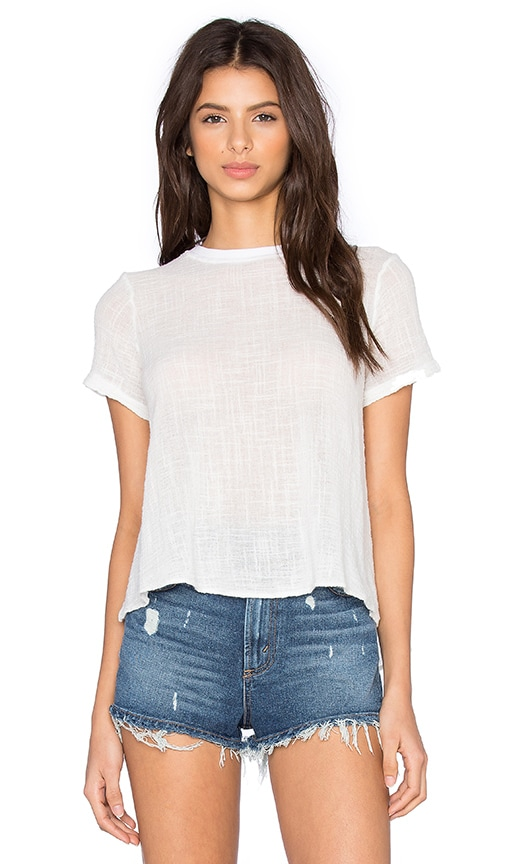 Enza Costa Trapeze Top in Cloud