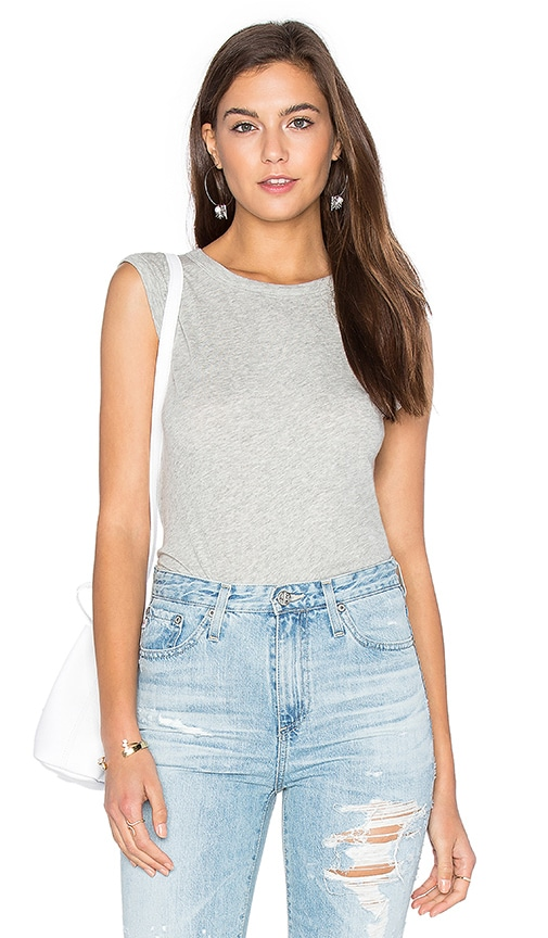 Cashmere Jersey Muscle Tank