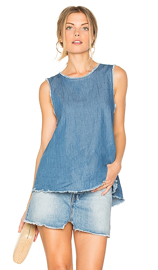 Enza Costa Trapeze Tank in Blue