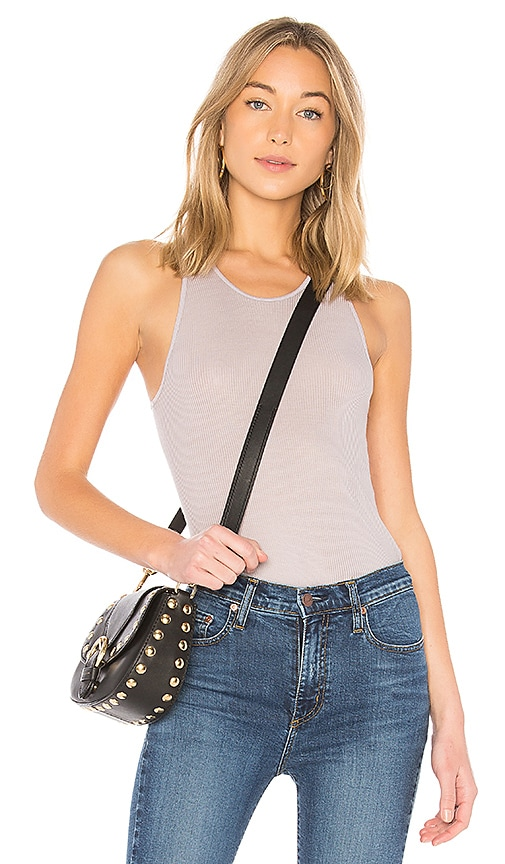 Enza Costa Rib Sheath Tank in Gray