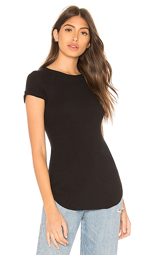 Enza Costa Cashmere Thermal Tunic in Black