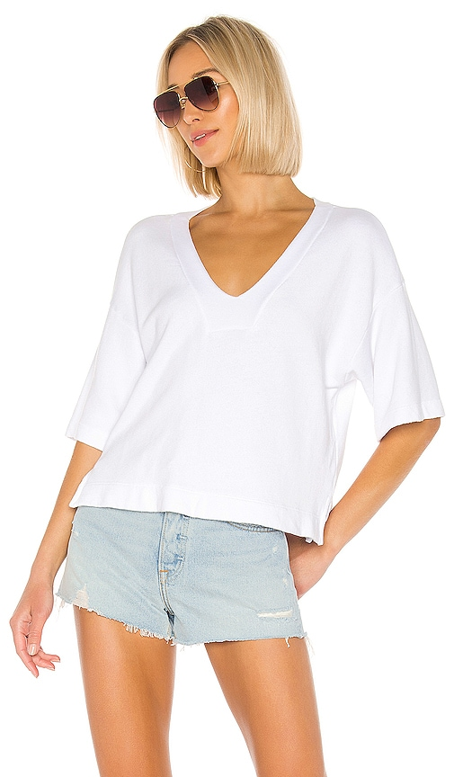 French Terry Easy V Neck Top
