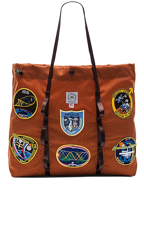 Epperson Mountaineering Vintage NASA Patch Large Tote in Rust