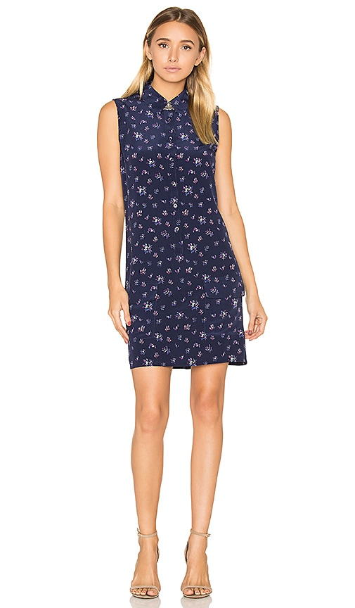 Equipment Lucida Floral Print Dress in Navy