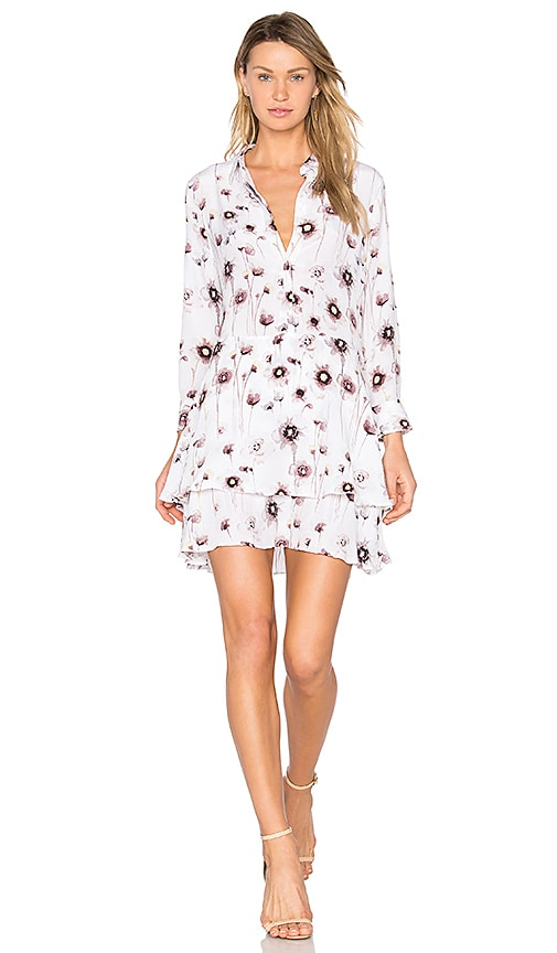 Equipment Natalia Floral Dress in White