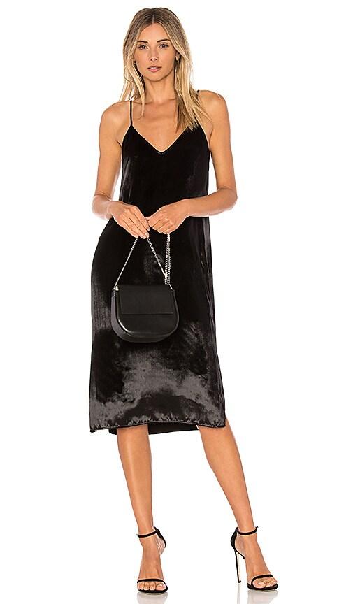 Nia Velvet Dress - Black Equipment Classic Online Online Sale Online RR7hX