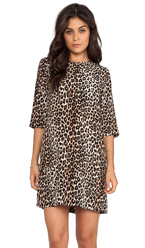 Equipment Aubrey Underground Leopard Dress in Black