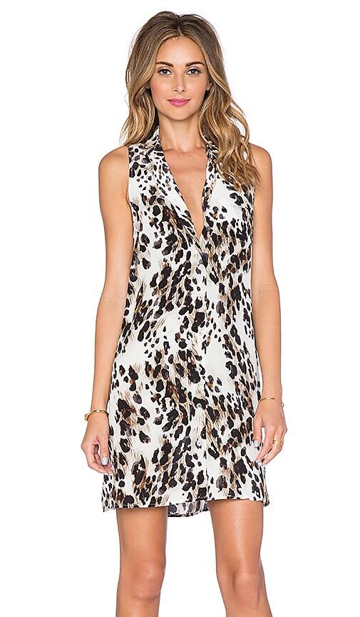 Equipment Ludlow Leopard Mina Dress in Ecru Multi