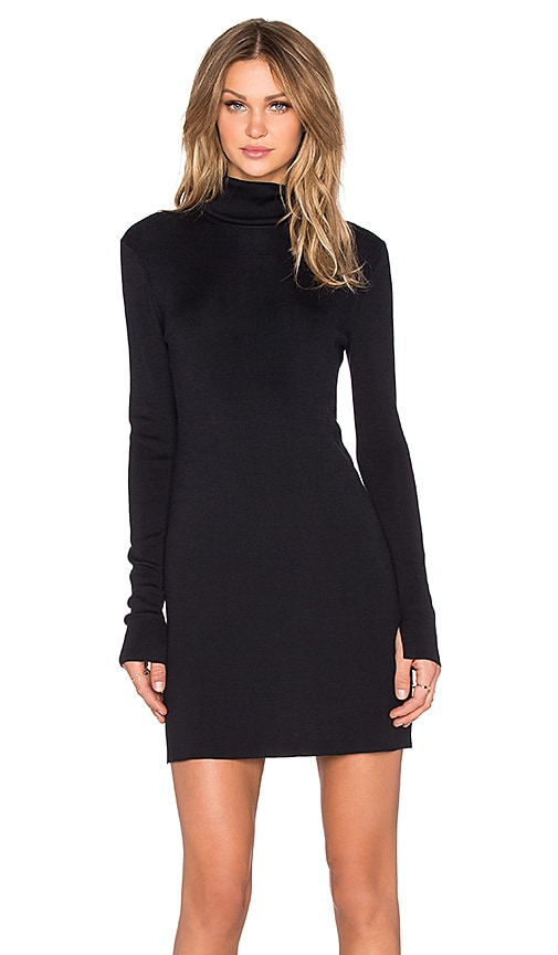 Cathleen Silk Elastane Turtleneck Dress
