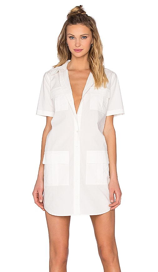 Equipment Remy Utility Dress in White
