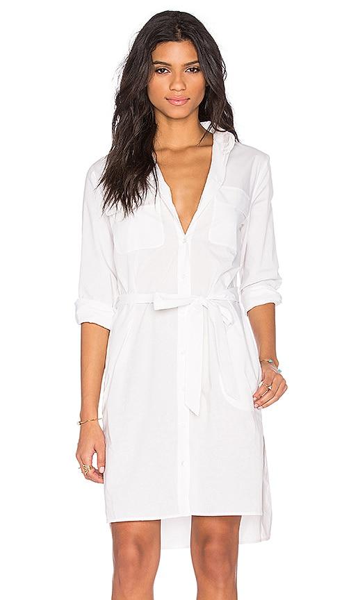 Equipment Short Delany Dress in White