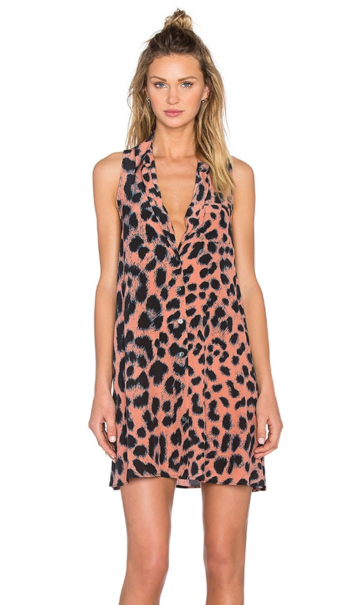 Equipment Mina Leopard Print Dress in Desert Sand Multi