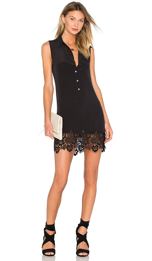 Equipment Sleeveless Lucida Dress Clean in Black