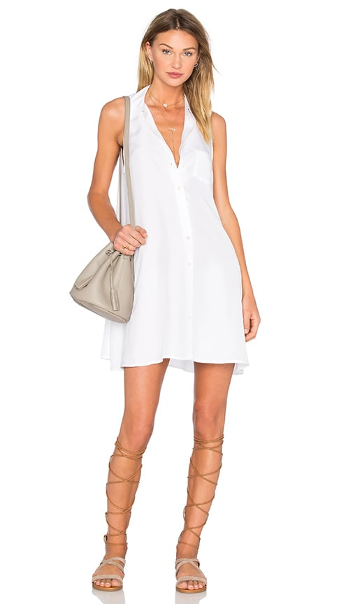 Equipment Mina Dress in Bright White