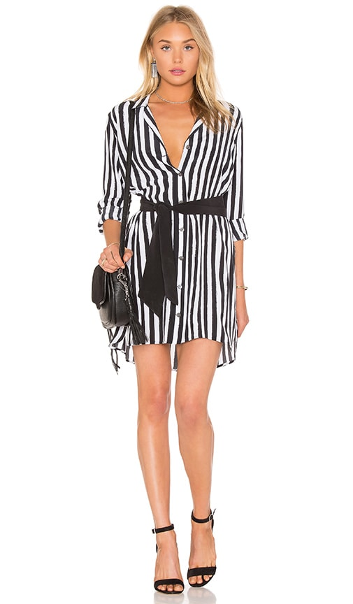 Equipment Kate Moss for Equipment Rosalind Button Up Dress in Black & White