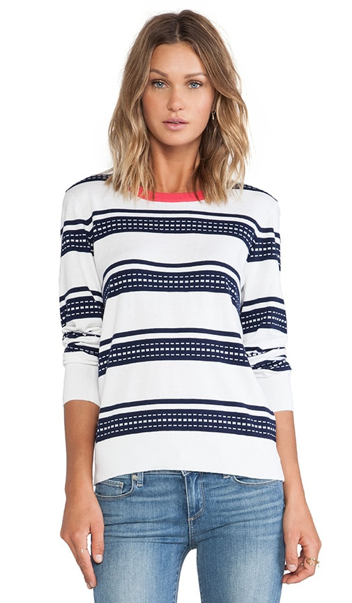 Shane Geo Stripe Crew Neck Sweater